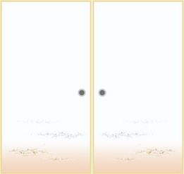 オーダー押入れ襖 観音開き 両開き(fkl-001)No/301 両開き 観音 開き式 押入れ襖 収納 板襖 オーダー ふすま フスマ 思いを形に! 空間に合わせて製作 DIY 特注 別注 取って付き ローラーキャッチ付き