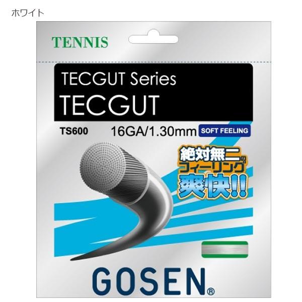 ゴーセン GOSEN メンズ レディース テックガット TECGUT 16 テニス テニスガット 20張入り ソフト感 TS600