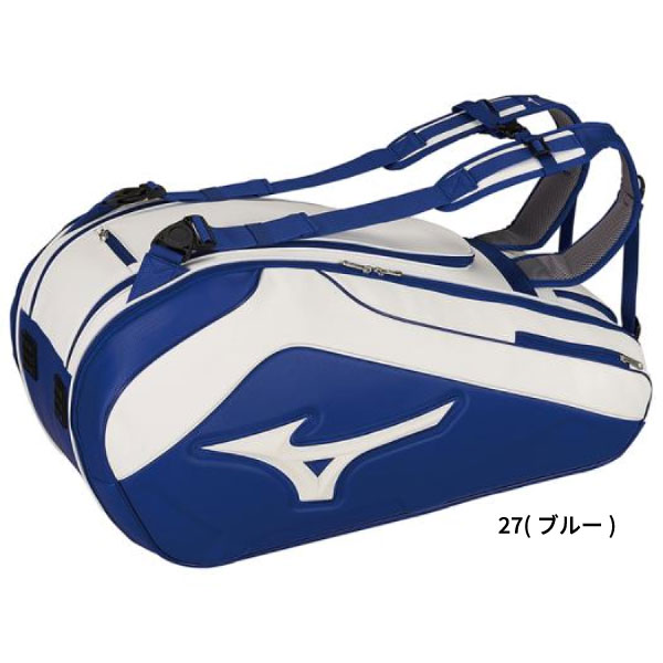 9本入れ ミズノ Mizuno メンズ レディース ラケットバッグ バッグ 鞄 テニス 試合 部活 合宿 大容量 63GD9002