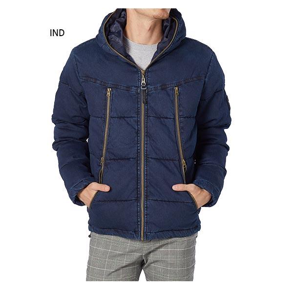 フード付き アウター カジュアルウェア RUSTY トップス インディゴ染め中綿ジャケット 長袖 929205 メンズ 上着 ラスティ