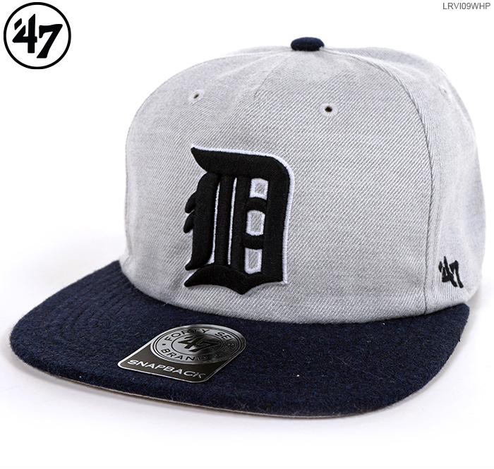 47Brand キャップ【 タイガース スナップバック 】TIGERS LAKEVIEW '47 CAPTAIN RF/47 Brand (47ブランド) MLB キャップ/TIGERS/デトロイト/タイガース/あす楽対応/