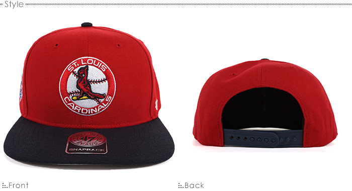 47 Brand cap CARDINALS SURE SHOT TWO TONE  47 CAPTAIN 47 Brand (47 brands)  snapback   cap   Cardinals   0af5c7a179cd