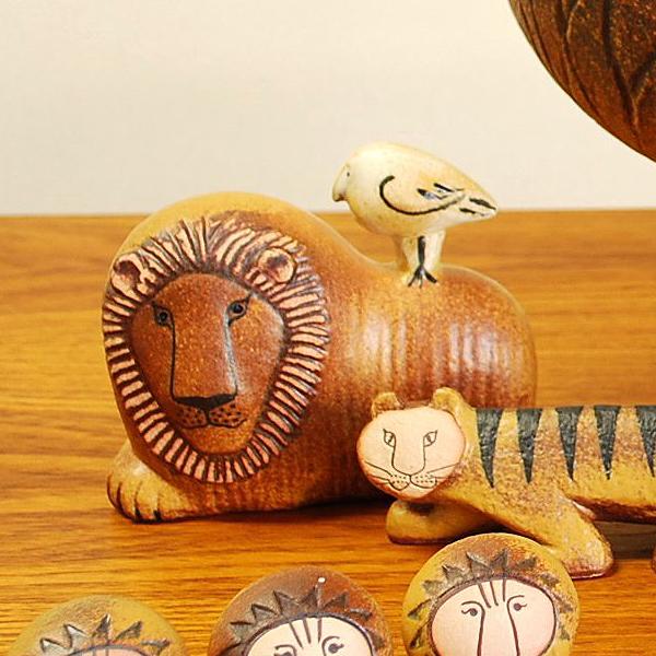 【送料無料】 Lisa Larson(リサ・ラーソン) Lion with Bird(ライオンとトリ)