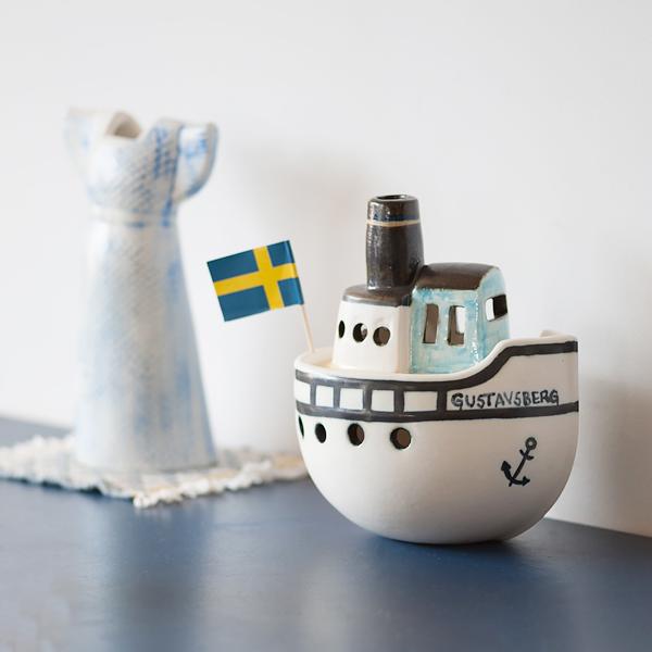 【送料無料】 Lisa Larson(リサ・ラーソン) Gustavsberg Boat(グスタフスベリ ボート)
