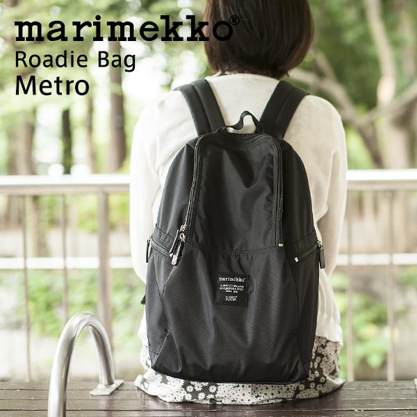 【正規販売店】マリメッコ ローディー バッグ メトロ ブラック (marimekko Roadie Bag Metro)