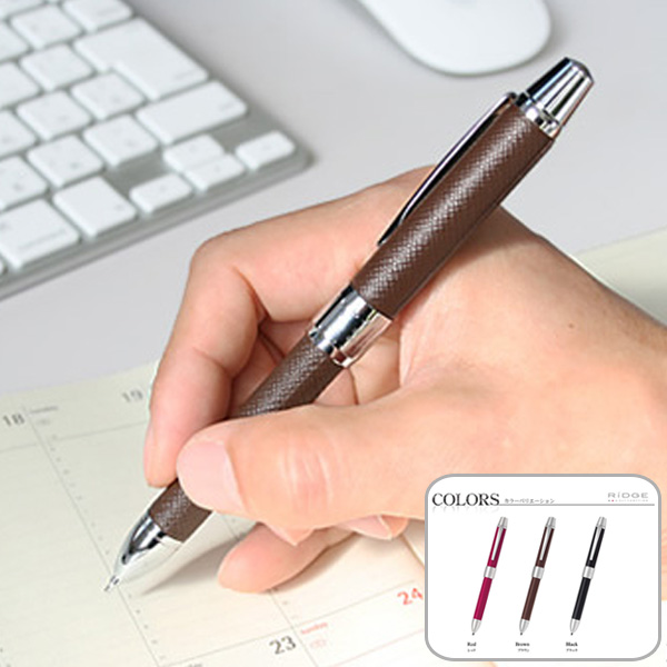 Multifunctional pen Ridge leather luxury with genuine leather