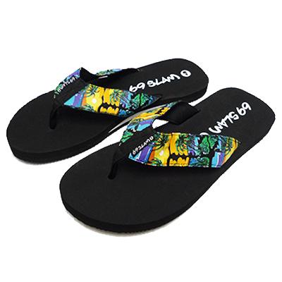 69SLAM液体氧羊羔人Beach sandal PRINTED SANDAL KIAN[流行的新名牌设计世界上充满]