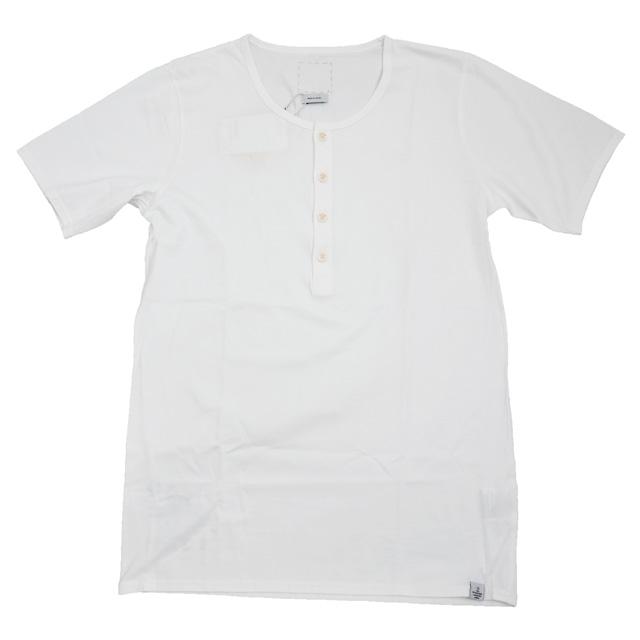 "VISVIM (bizvim) ""ULTIMATE HENLY-NECK (SEA ISLAND)"" Sea Island cotton Henry v-neck T shirt"