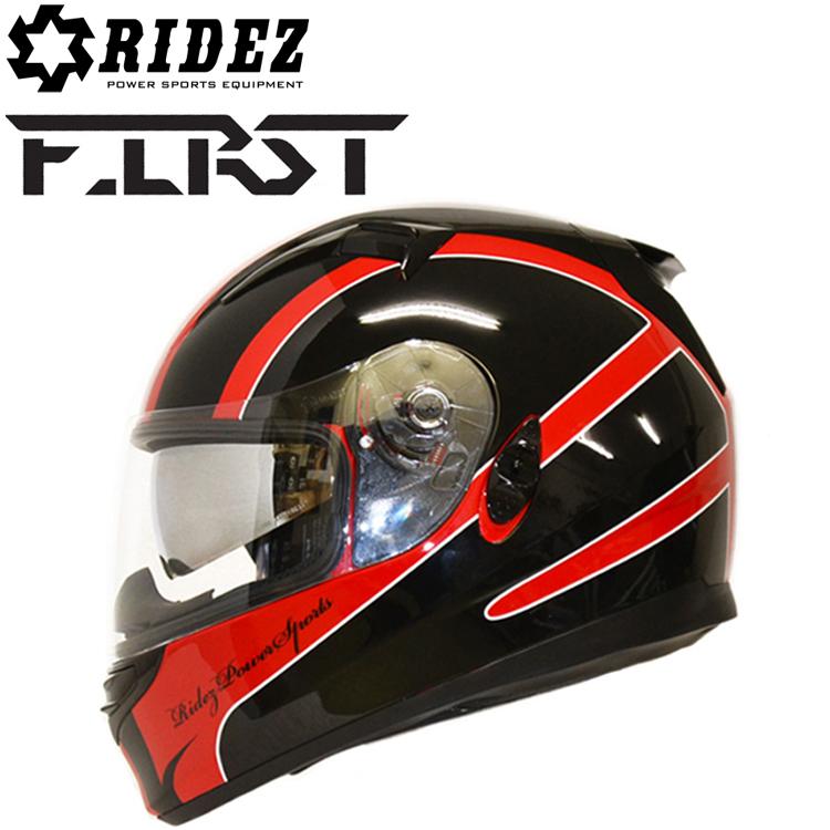 RIDEZ ライズ FIRST FR-1 RED フルフェイスヘルメット ファースト SG規格 バイク用ヘルメット インナーバイザー 条件付き送料無料 あす楽対応