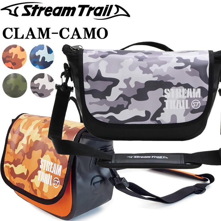 STREAMTRAIL ストリームトレイル CLAM-CAMO 4.8L クラム 迷彩モデル カモフラージュカラー 簡易防水ショルダーバッグ あす楽対応