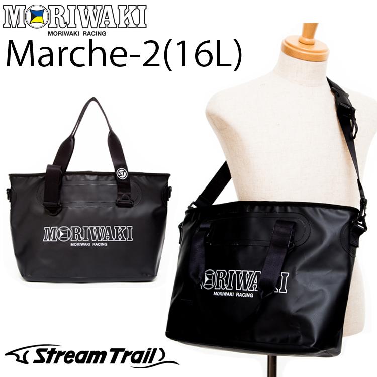MORIWAKI モリワキ ストリームトレイルコラボトートバッグ MARCHE2-16L BLACK ショルダーバッグ 710-250-0341 あす楽対応