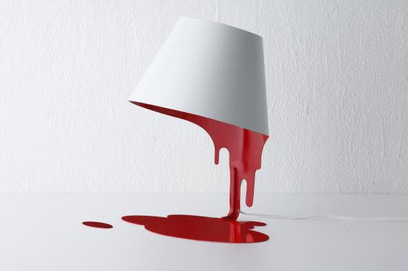 共栄デザイン liquid lamp(リキッドランプ) テーブルスタンド レッド 【LED電球】【送料無料】【smtb-s】