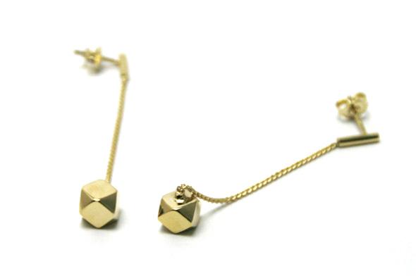 Bandada (バンダダ) cuboctahedron series 【Long gold earrings】 ゴールド ピアス 【送料無料】【smtb-s】