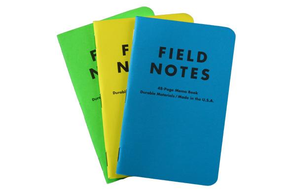 FIELD NOTES(场笔记本)Neon Summer Camp 3-Pack记事本笔记本3种安排