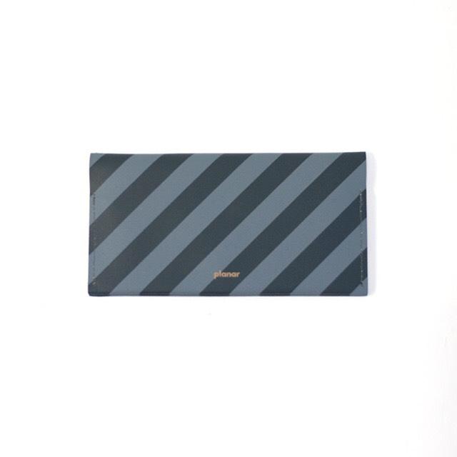 planar (プラナー) Wallet L (長財布) 【Grey and Black Stripes】