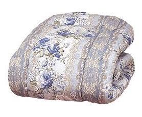 羽毛タッチ高級掛布団 ダブル ブルー