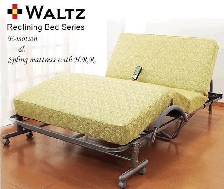 極厚収納式電動リクライニングベッド 高反発スプリングマット仕様 セミダブル