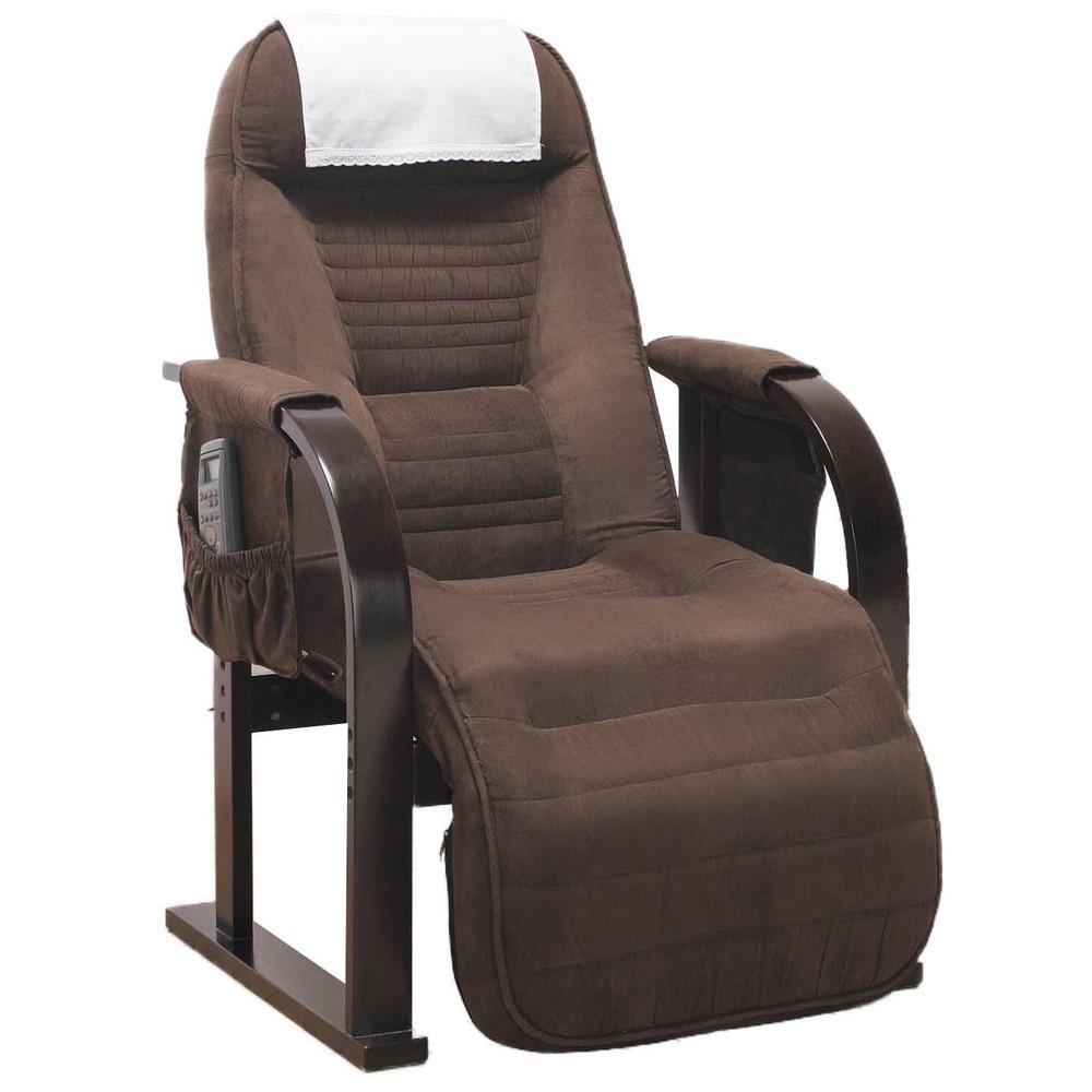 天然木 低反発 高座椅子 リクライニングチェア ブラウン