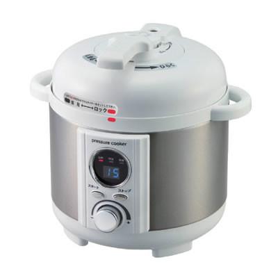 電気圧力鍋 異常圧力・加熱防止機能 1.2L ホワイト