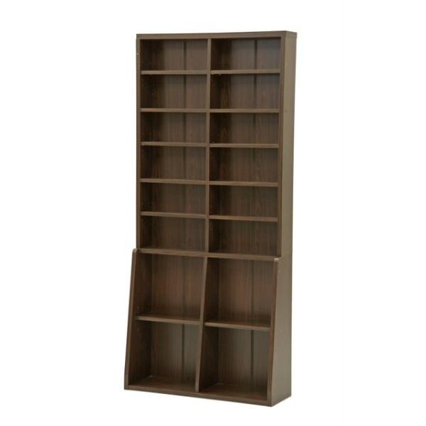リビング収納 本棚 書棚 幅90cm ブラウン