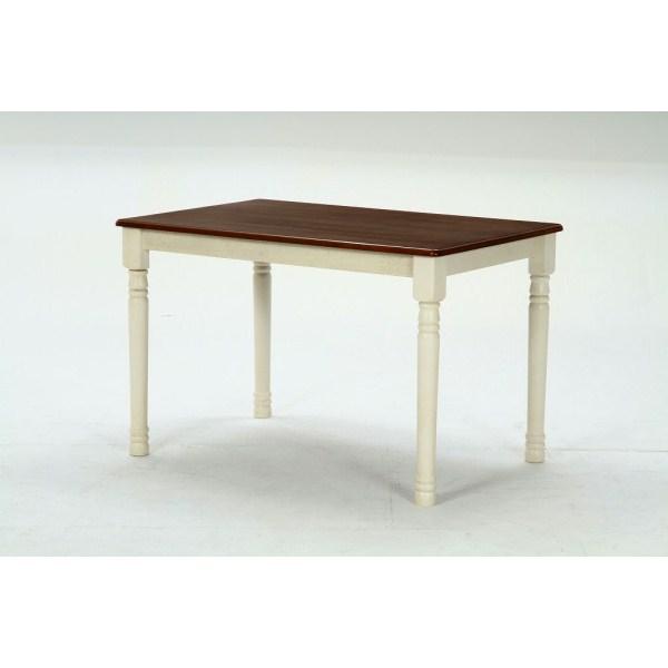 ダイニングテーブル マキアート 4人掛け用 天然木 ホワイト ブラウン
