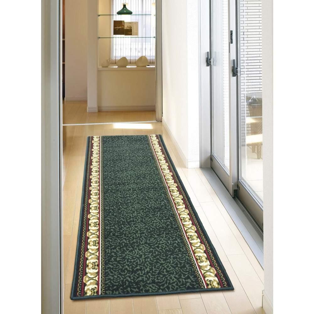 「アイラスIN」 洗える廊下敷き グリーン 約80×700cm