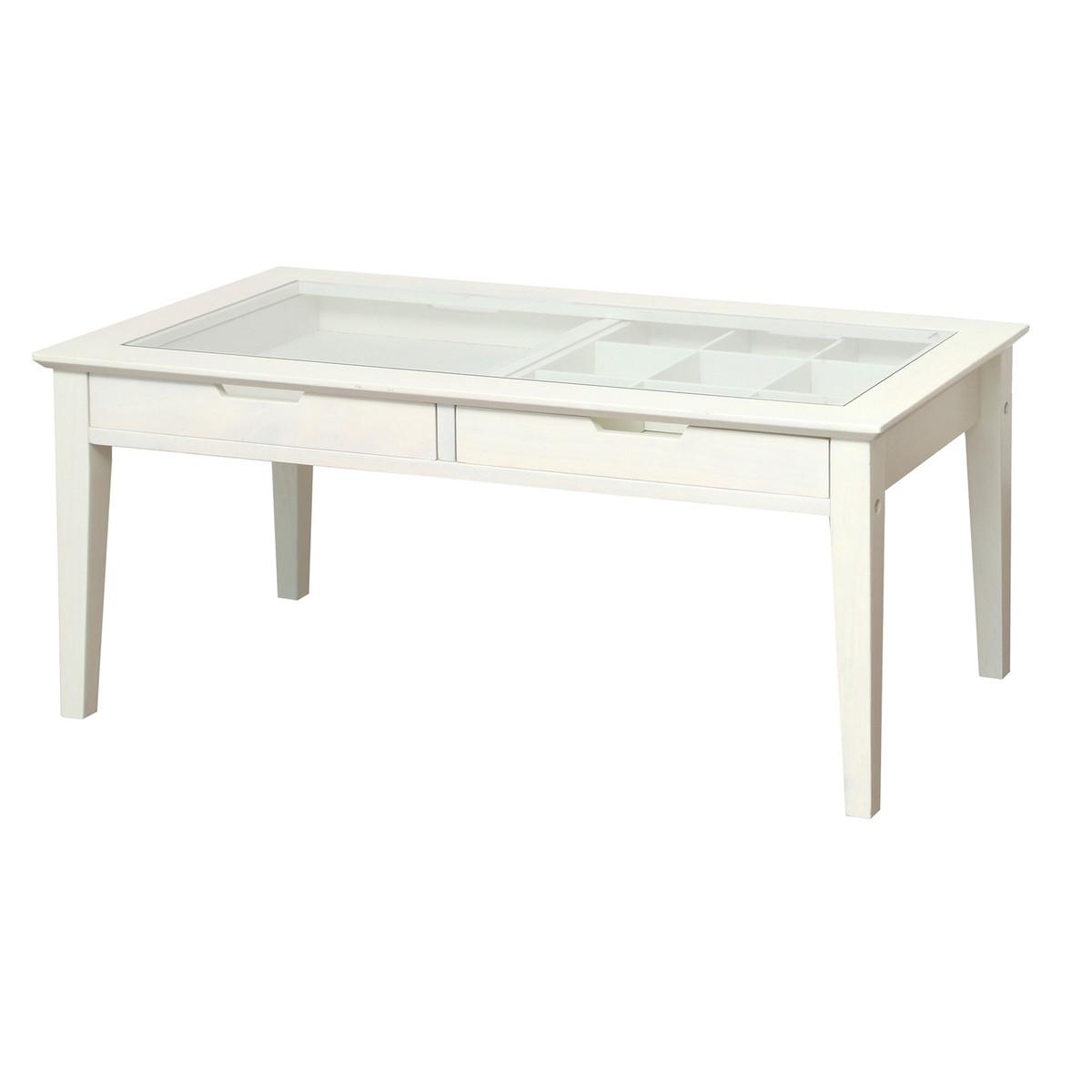 アイネ レノ コレクションテーブル ホワイト 幅90cm