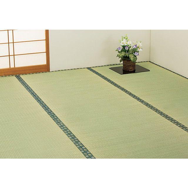 純国産 い草 上敷き カーペット 双目織 「草津」 江戸間8畳(約352×352cm)