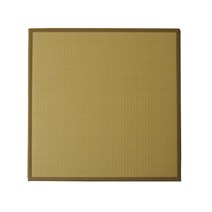 水拭きできる ポリプロピレン 置き畳 ユニット畳 「スカッシュ」 ベージュ 82×82×1.7cm(6枚1セット) 軽量タイプ