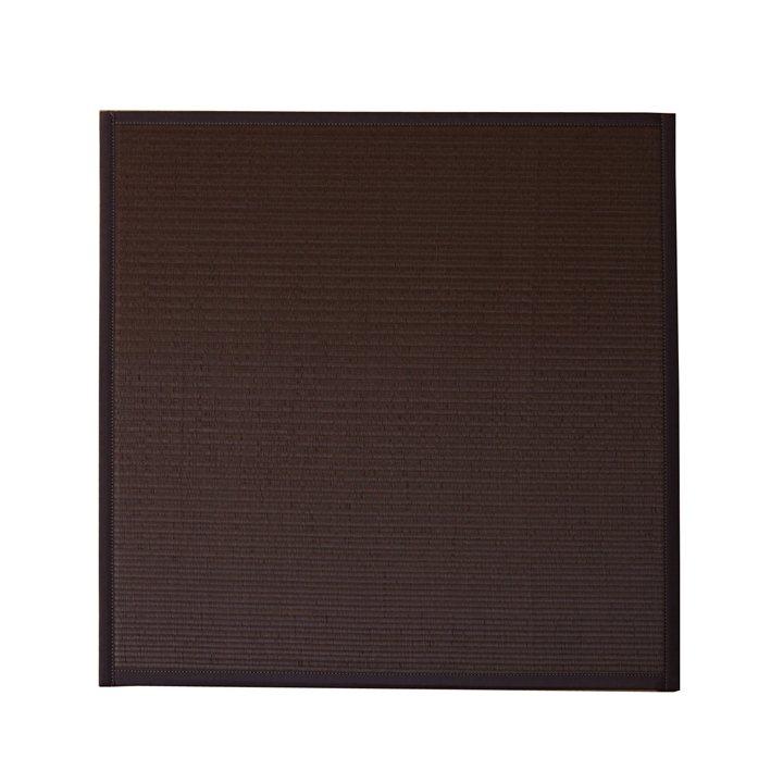 水拭きできる ポリプロピレン 置き畳 ユニット畳 「スカッシュ」 ブラウン 82×82×1.7cm(9枚1セット) 軽量タイプ