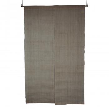 本麻無地のれん 生成り  生成り 約巾88×丈150cm:家具・インテリア フリーシュ