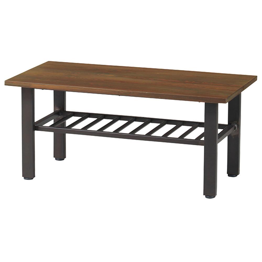 エヴァンス センターテーブル インダストリアルデザイン 幅90cm