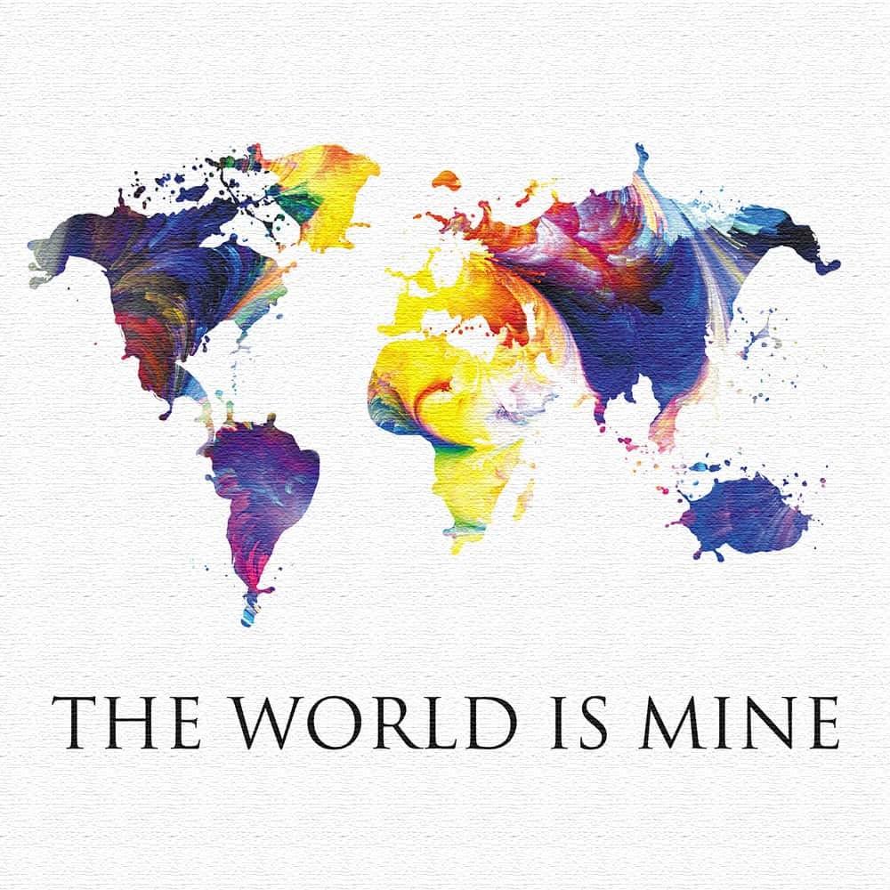 世界地図 壁掛けアート インテリア 雑貨 アート ポップアート pop-1610-002 57cm × 57cm