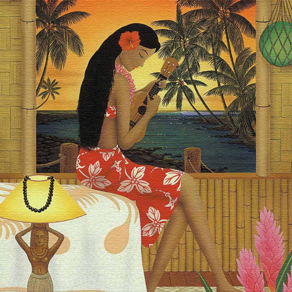 HILO KUME 壁掛けアート インテリア 雑貨 アート ハワイ アロハ hrk-0003 100cm × 100cm
