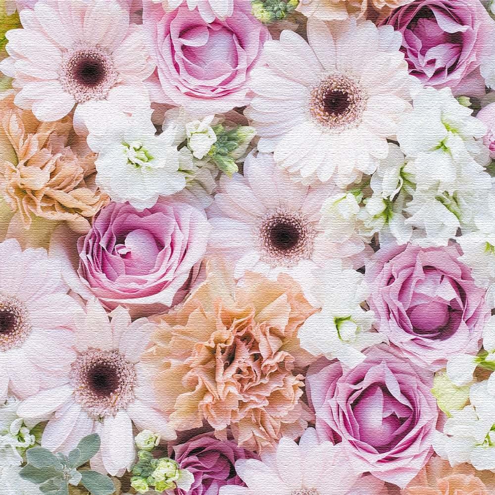竹内陽子 ファブリックボード インテリア 雑貨 アート 花 写真 yt-300-pink-012 100cm × 100cm