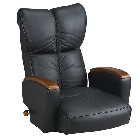 肘付本革座椅子 風雅(ふうが)ブラック