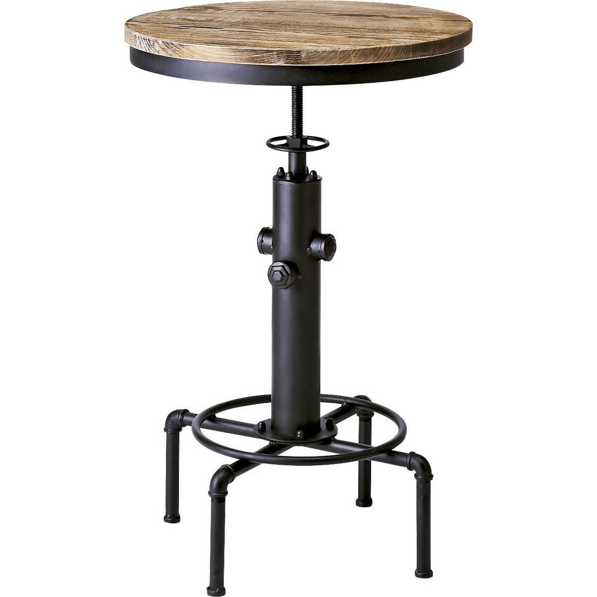 ヴィンテージ加工 バーテーブル(ブラック)