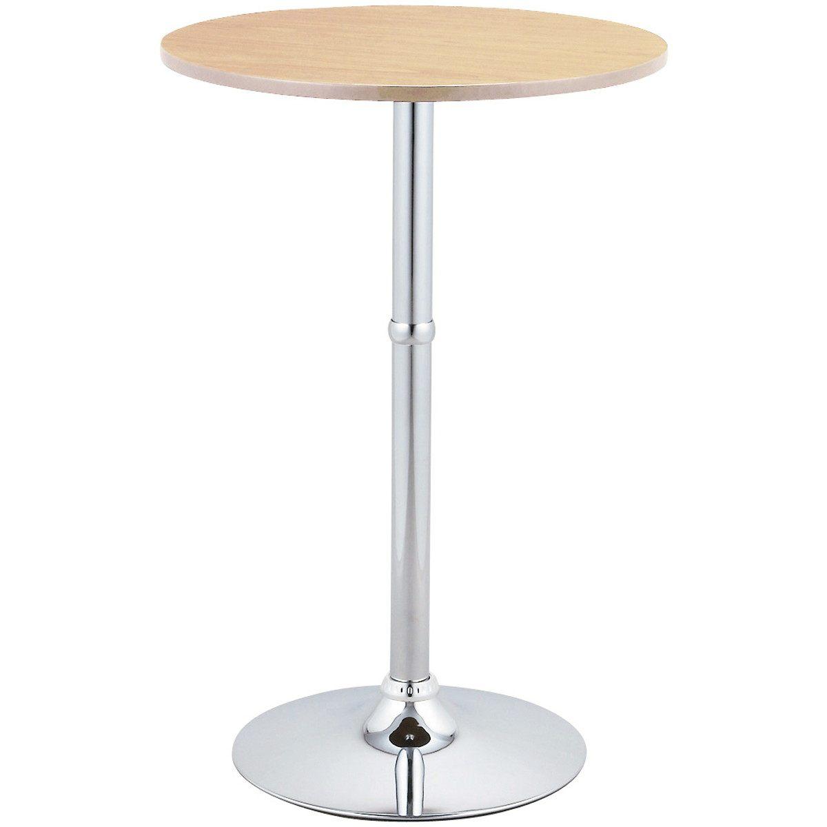 ラウンド型 ハイテーブル (ナチュラル)