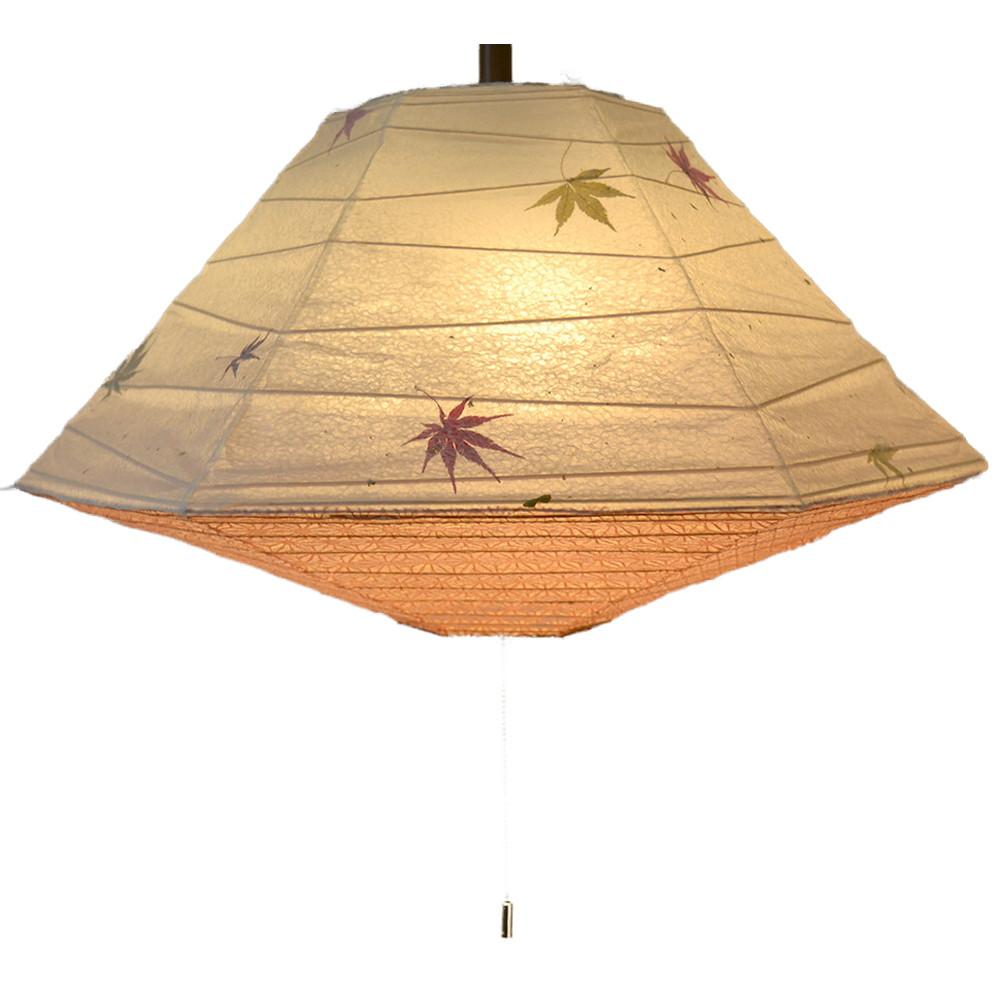 日本製 和紙照明 3灯ペンダントライト SPN3-1011 pyramid 電球別売 もみじ×麻葉煉瓦
