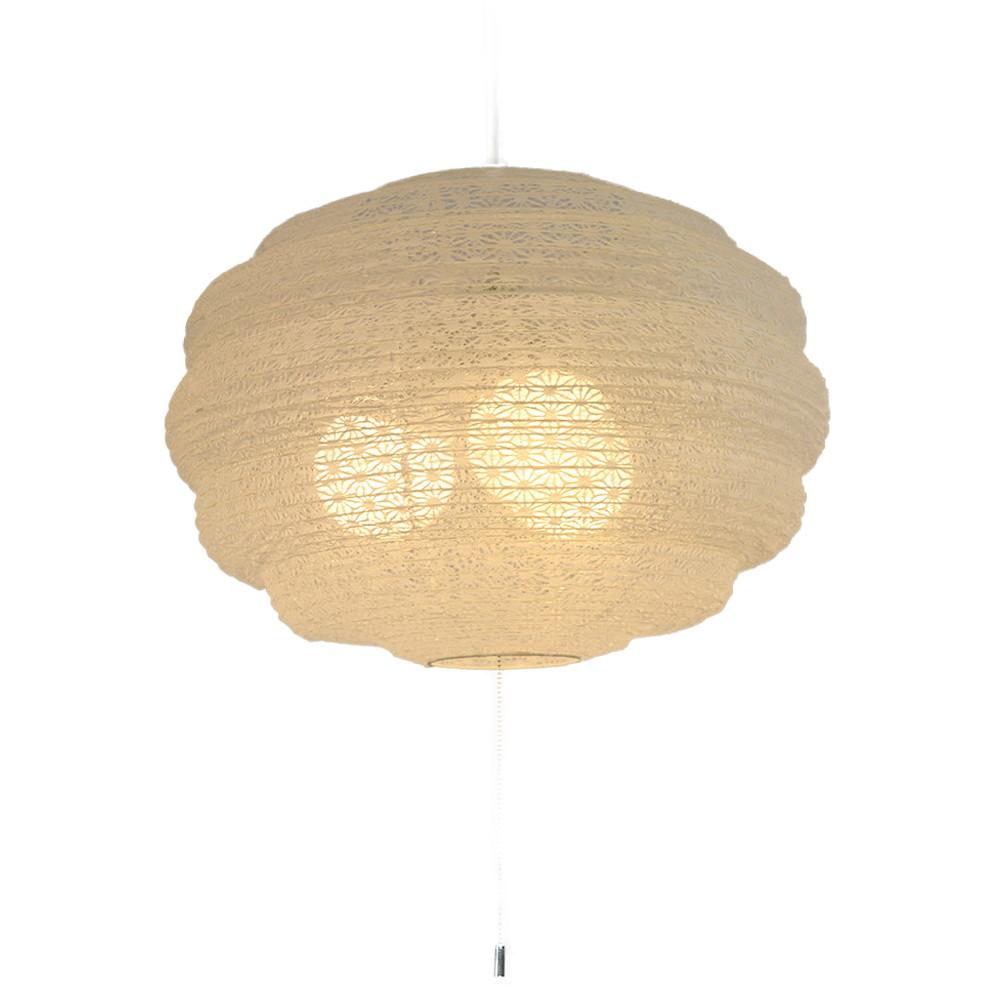 日本製 和紙照明 3灯ペンダントライト SPN3-1069 MOCO 電球別売 麻葉白