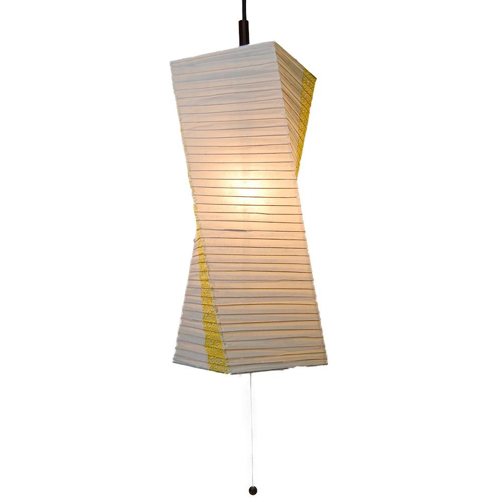 日本製和紙照明 1灯 ペンダントライト SPN1-1004 楮紙茶×麻葉菜種 電球別売