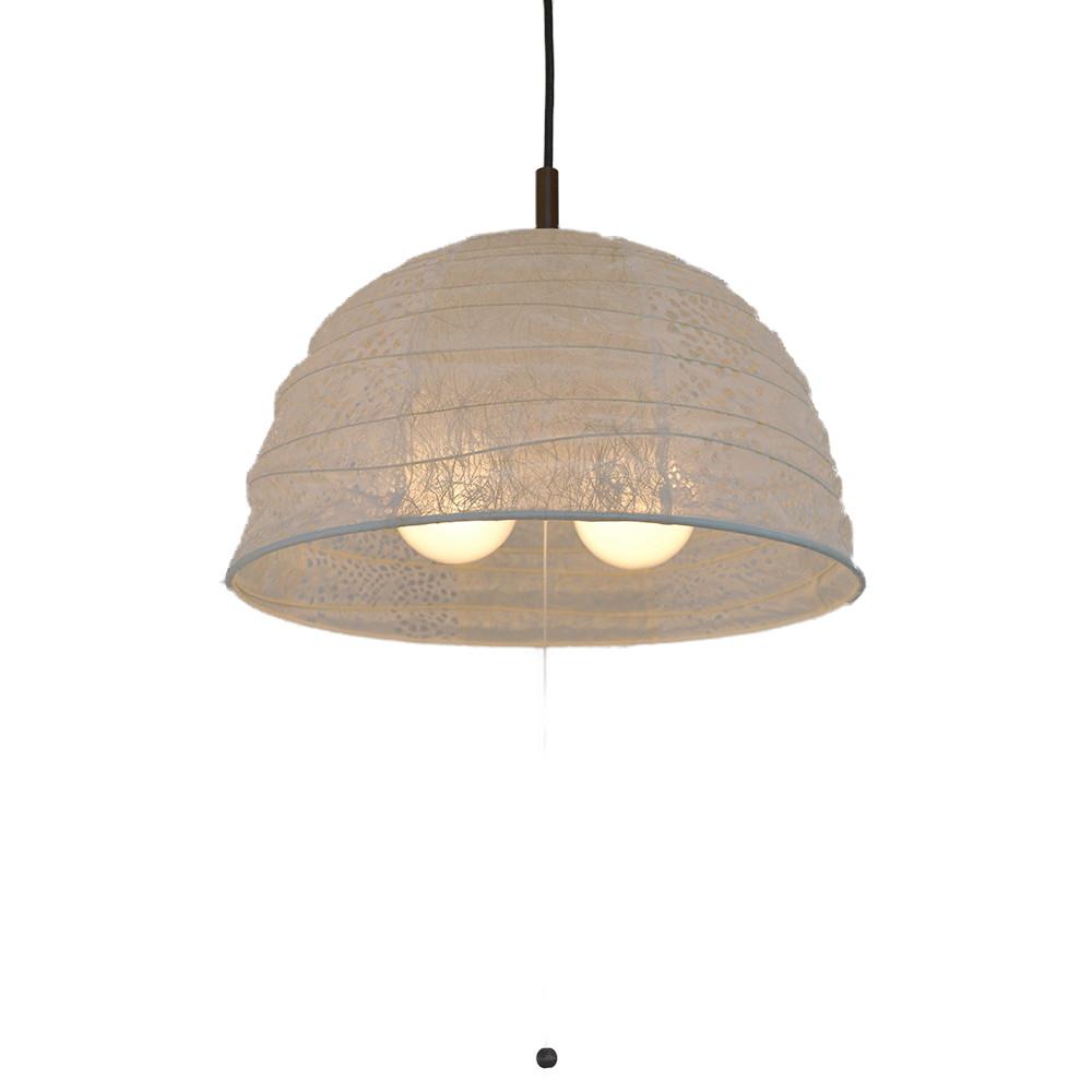 日本製 和紙照明 2灯ペンダントライト PDN-45 tent 電球別売 小倉流紙白×LeafWH