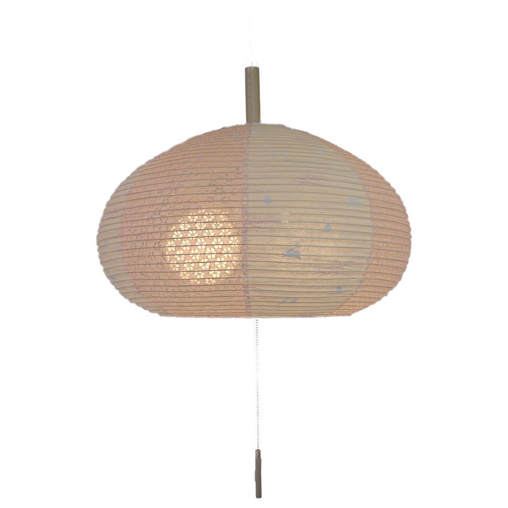 日本製和紙照明 2灯 ペンダントライト SPN2-1018 うさぎピンク×小梅ピンク 電球別売