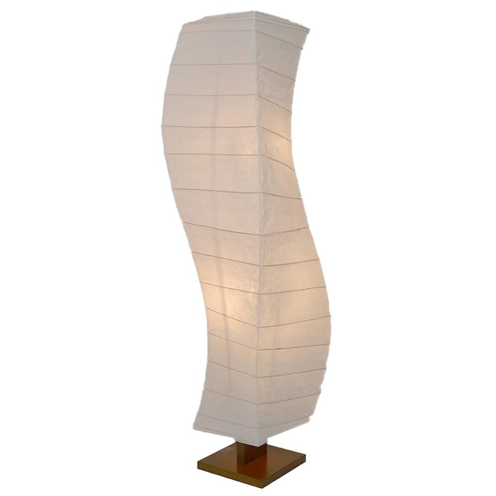 日本製 和紙照明 大型 フロアスタンド D-202 flow 揉み紙