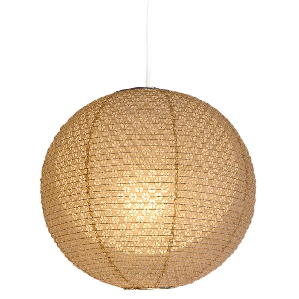 日本製 和紙照明 1灯ペンダントライト 二重提灯 SPN1-1101 bud 電球別売 小梅茶in小梅白