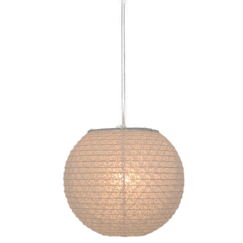 日本製 和紙照明 1灯ペンダントライト 二重提灯ミニサイズ SPN1-1104 bud 電球別売 小梅白in小梅白