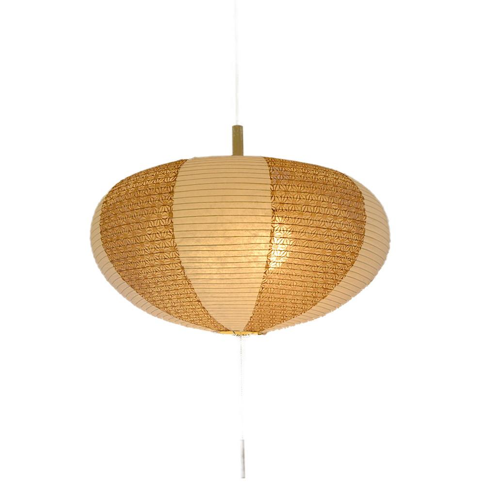 日本製 和紙照明 2灯ペンダントライト SPN2-1017 koma 電球別売 楮紙茶×麻葉唐茶