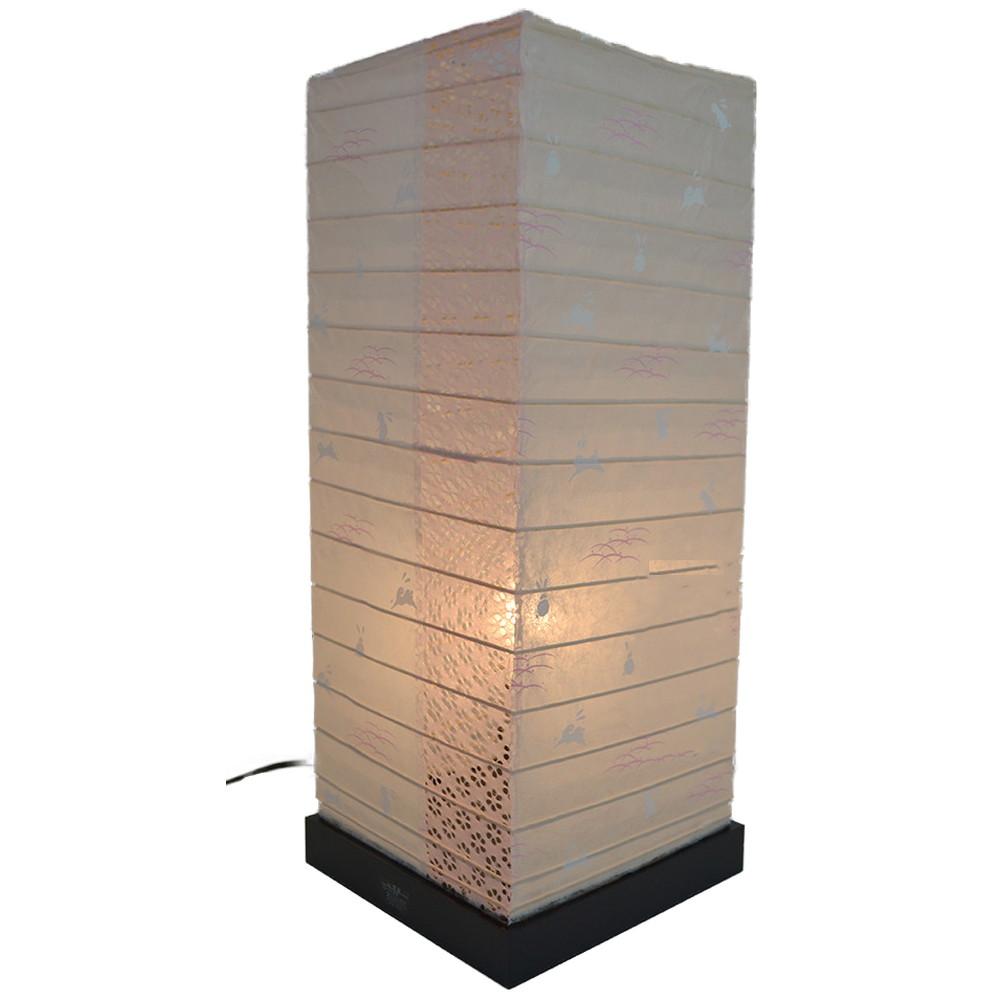 日本製 和紙照明 フロアランプ SS-3082 garden 小梅うさぎ ピンク