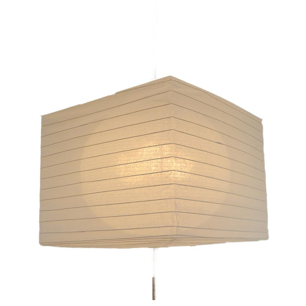 日本製 和紙照明 美濃和紙照明3灯ペンダントライト 四角二重提灯 SPN3-1105G square 電球別売