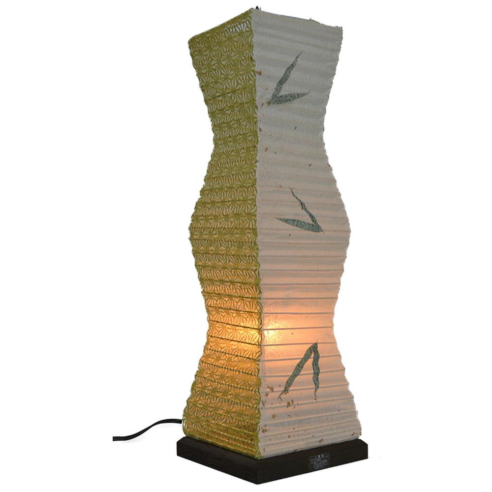 日本製 和紙照明 テーブルランプ SS-3080 twig 笹×麻葉萌葱